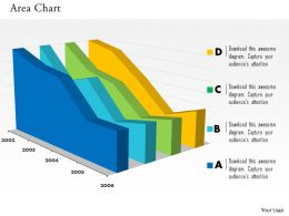 0514 Year Based Data Driven Area Chart Powerpoint Slides