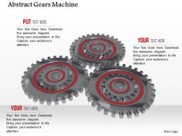 0614 Abstract Of Gears Machine Image Graphics for PowerPoint
