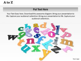 0614 Arrange Letters A To Z Image Graphics for PowerPoint