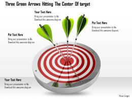 0614 Arrows Hitting Center Of The Target Image Graphics for PowerPoint