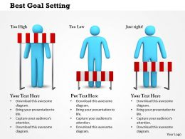 0614 Best Goal Setting Powerpoint Presentation Slide Template