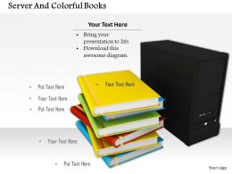 0614_books_and_computer_server_image_graphics_for_powerpoint_Slide01