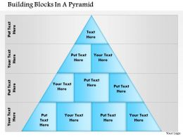 0614 Building Blocks In A Pyramid1 Powerpoint Presentation Slide Template