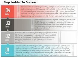 0614 Business Consulting Diagram 4 Steps Of Business Success Powerpoint Slide Template