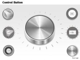 0614 Business Consulting Diagram Buttons To Control Device Powerpoint Slide Template