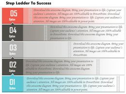 0614 Business Consulting Diagram Five Staged Business Process Powerpoint Slide Template