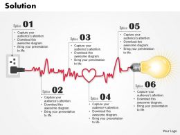 0614 Business Consulting Diagram Irregular Heartbeat Solution Powerpoint Slide Template