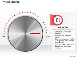 0614 Business Consulting Diagram Metal Button At Max Level Powerpoint Slide Template