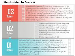 0614 Business Consulting Diagram Three Step Ladder To Success Powerpoint Slide Template