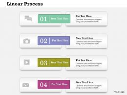 0614 Business Consulting Diagram Vertical Process With 4 Stages Powerpoint Slide Template