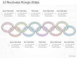 0614 Business Ppt Diagram 10 Business Rings Steps Powerpoint Template
