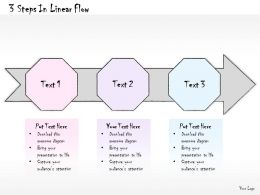 0614 Business Ppt Diagram 3 Steps In Linear Flow Powerpoint Template