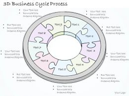 0614 Business Ppt Diagram 3D Business Cycle Process Powerpoint Template