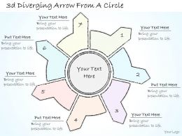 0614_business_ppt_diagram_3d_diverging_arrow_from_a_circle_powerpoint_template_Slide01