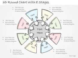0614 Business Ppt Diagram 3D Round Chart With 8 Stages Powerpoint Template