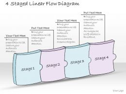 0614_business_ppt_diagram_4_staged_linear_flow_diagram_powerpoint_template_Slide01