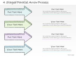 0614 Business Ppt Diagram 4 Staged Parallel Arrow Process Powerpoint Template