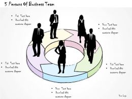 0614 Business Ppt Diagram 5 Persons Of Business Team Powerpoint Template