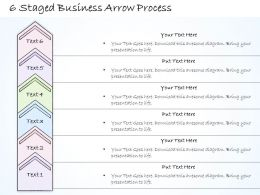 0614 Business Ppt Diagram 6 Staged Business Arrow Process Powerpoint Template