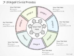 0614 Business Ppt Diagram 7 Staged Circle Process Powerpoint Template