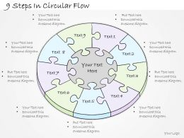 0614 Business Ppt Diagram 9 Steps In Circular Flow Powerpoint Template