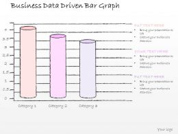 0614 Business Ppt Diagram Business Data Driven Bar Graph Powerpoint Template