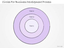 0614 Business Ppt Diagram Circles For Business Development Process Powerpoint Template