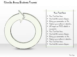 0614 Business Ppt Diagram Circular Arrow Business Process Powerpoint Template