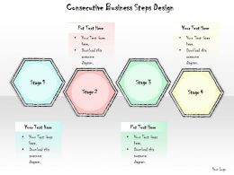 0614 Business Ppt Diagram Consecutive Business Steps Design Powerpoint Template