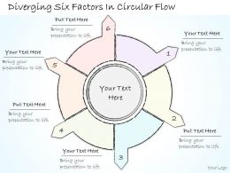0614 Business Ppt Diagram Diverging Six Factors In Circular Flow Powerpoint Template