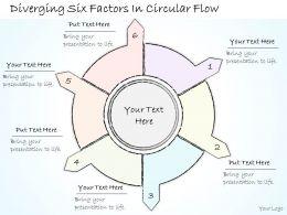 0614_business_ppt_diagram_diverging_six_factors_in_circular_flow_powerpoint_template_Slide01