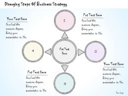 0614 Business Ppt Diagram Diverging Steps Of Business Strategy Powerpoint Template