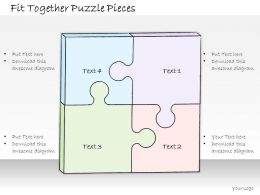 0614 Business Ppt Diagram Fit Together Puzzle Pieces Powerpoint Template