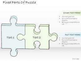 0614 Business Ppt Diagram Fixed Parts Of Puzzle Powerpoint Template