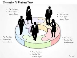 0614 Business Ppt Diagram Illustration Of Business Team Powerpoint Template