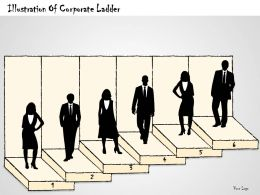 0614 Business Ppt Diagram Illustration Of Corporate Ladder Powerpoint Template