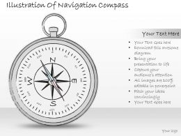 0614 Business Ppt Diagram Illustration Of Navigation Compass Powerpoint Template
