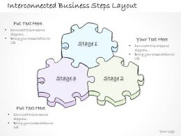 0614 Business Ppt Diagram Interconnected Business Steps Layout Powerpoint Template