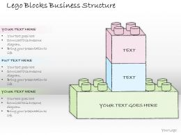 0614 Business Ppt Diagram Lego Blocks Business Structure Powerpoint Template