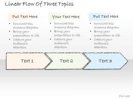 0614 Business Ppt Diagram Linear Flow Of Three Topics Powerpoint Template