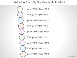 0614 Business Ppt Diagram Make A List Of Business Activities Powerpoint Template