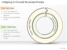0614 Business Ppt Diagram Mapping A Circular Business Process Powerpoint Template