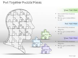 0614 Business Ppt Diagram Put Together Puzzle Pieces Powerpoint Template