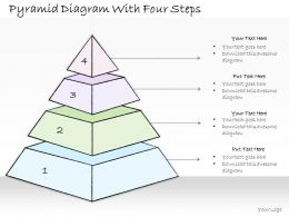 0614 Business Ppt Diagram Pyramid Diagram With Four Steps Powerpoint Template