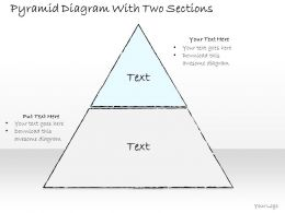 0614_business_ppt_diagram_pyramid_diagram_with_two_sections_powerpoint_template_Slide01