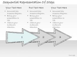 0614 Business Ppt Diagram Sequential Representation Of Steps Powerpoint Template