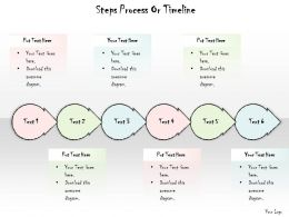 0614 Business Ppt Diagram Steps Process Or Timeline Powerpoint Template