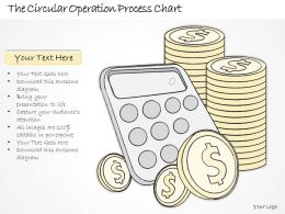 0614 Business Ppt Diagram The Circular Operation Process Chart Powerpoint Template