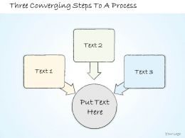 0614 Business Ppt Diagram Three Converging Steps To A Process Powerpoint Template