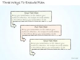 0614 Business Ppt Diagram Three Ways To Execute Plan Powerpoint Template